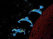 Romulanische D7-Kreuzer tauchen auf