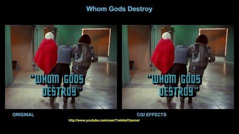 """TOS """"Whom Gods Destroy"""" - """"La colère des dieux"""" - comparaison des effets spéciaux"""