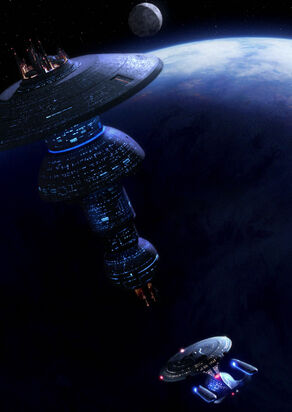 USS Enterprise-D approaches a Spacedock type station.jpg