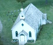 White Church close from space