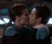 Dax and Bashir kissing