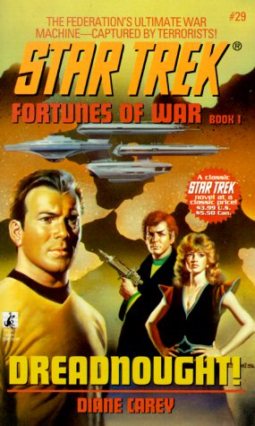 Cover of book 1, <i>Dreadnought!</i> with <i>Fortunes of War</i> labelling