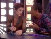 Kira Nerys and Jake Sisko