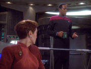 Kira and Sisko in Ops