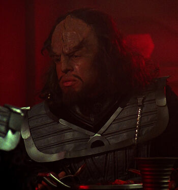 ...as a Klingon tactical officer
