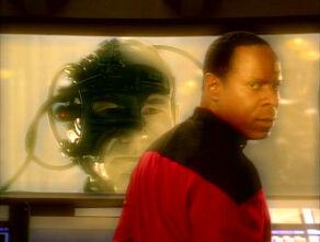 Sisko and Locutus in Prophet Vision