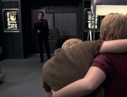 Janeway confronts the future Kes