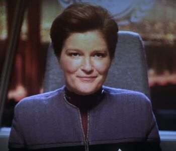 "<a href=""/wiki/Vice_Admiral"" title=""Vice Admiral"" class=""mw-redirect"">Vice Admiral</a> Kathryn Janeway (<a href=""/wiki/2379"" title=""2379"">2379</a>)"