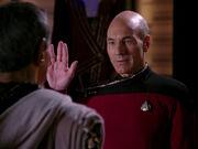Picard bids Sarek farewell