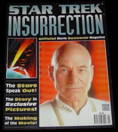 Star Trek Insurrection Official Movie Magazine cover