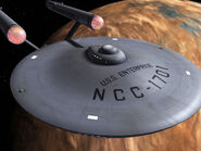 USS Enterprise orbiting Rigel XII