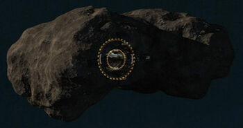 Tholian asteroid dock