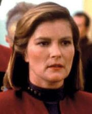 Kathryn Janeway with unused hairstyle