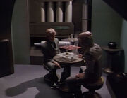 Nibor and Krayton crewman play chess