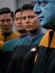 Sternenflottenoffizier Wissenschaft Medizin USS Voyager 2377 Sternzeit 54090