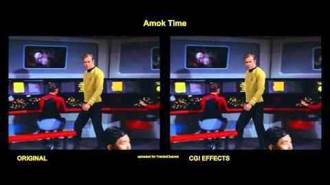 """TOS """"Amok Time"""" - """"Le mal du pays"""" - comparaison des effets spéciaux"""