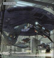 USS Vengeance under construction