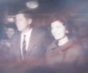 John F. Kennedy with wife, Jacqueline Kennedy