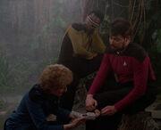 Pulaski scans Riker's leg