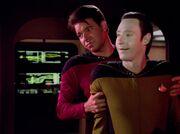 Riker und Data im Maschinenraum