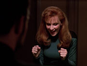 Beverly Crusher wins at poker