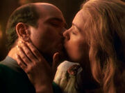 Doctor and Freya kiss