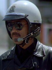 Motorradpolizist 1986