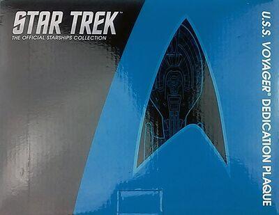 Raumschiffsammlung verpackte Widmungsplakette Voyager