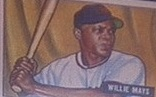 A Willie Mays baseball card