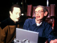 Brent Spiner and Stephen Hawking
