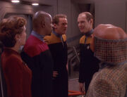Kira, Sisko, O'Brien, Eddington and Rom