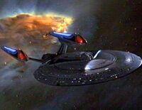 USS Enterprise NCC-1701-E nébuleuse