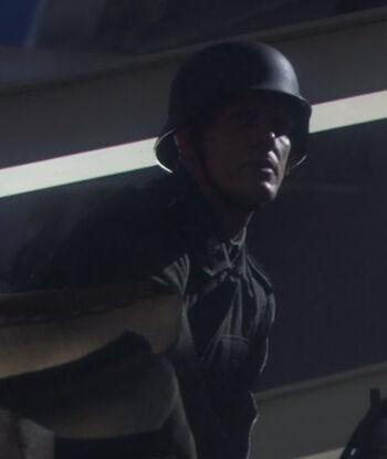 ... as a Nazi guard