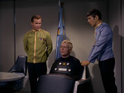 Kirk, Pike, and Spock