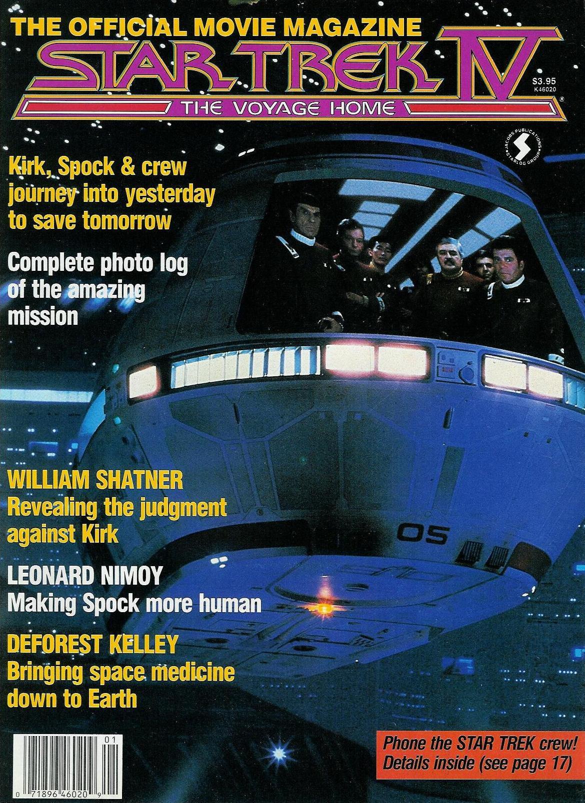 Star Trek IV Official Movie Magazine cover