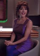 Troi in a purple dress