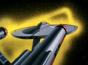 USS Enterprise hit by spiroid epsilon waves