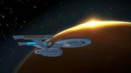 USS Enterprise over Genesis
