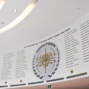 Yorktown memorial wall