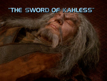 The Sword of Kahless title card