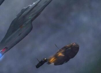 Loquar's starship and <i>Voyager</i>