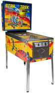 Bally Star Trek Pinball cabinet