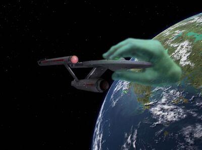 Enterprise gefangen in der Hand des Apoll