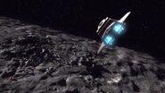 Fähre 1 über Asteroiden