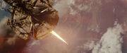 Narada fires a mining beam into Earth