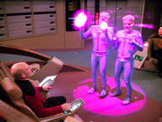 Picard and aliens in forcefield 2366