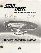 Star Trek The Next Generation Writers Technical Manual season 3