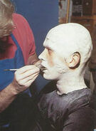 Bradley Look works on Borg drone makeup