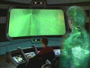 Janeway wird ins Borgschiff geholt