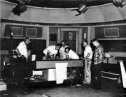Jim Rugg and his team rigging the Enterprise bridge